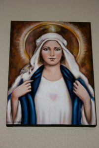 Spiritual Energy Healing , John of God , & Soul Retrieval by Healing Channels mary painted by sirlei lerner 1 201x300 - mary-painted-by-sirlei-lerner