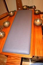 Soul retrieval bed and tibetan singing bowls